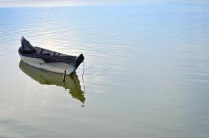 Lonely Boat at Baray