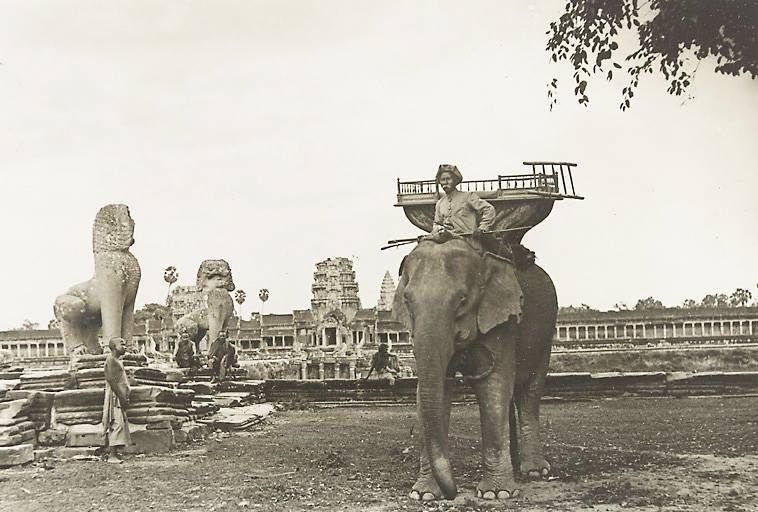 Old Photo of Elephant in Siem Reap Cambodia