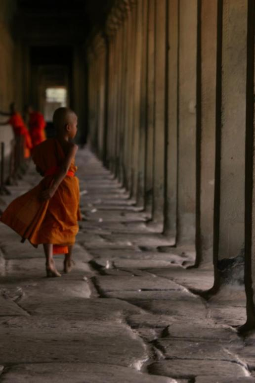 Child Monks at the Temples of Angkor