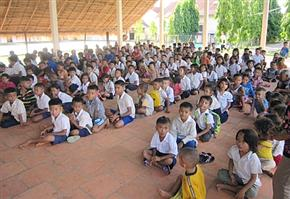 Cambodian children at the Place of Rescue Orphanage have donated $900 to Alberta flood relief
