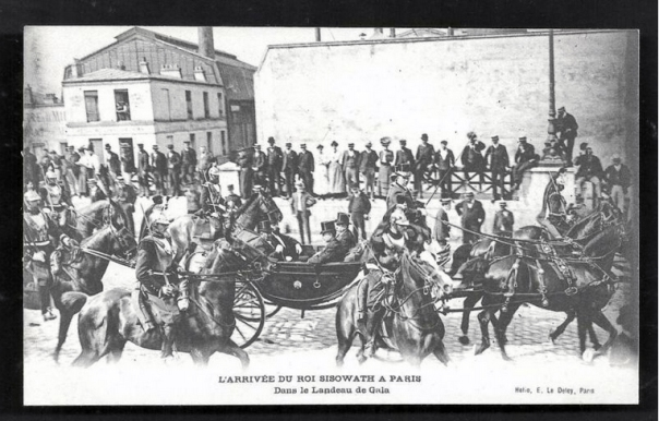 Sisowath King of Cambodia Escort Paris France 1906