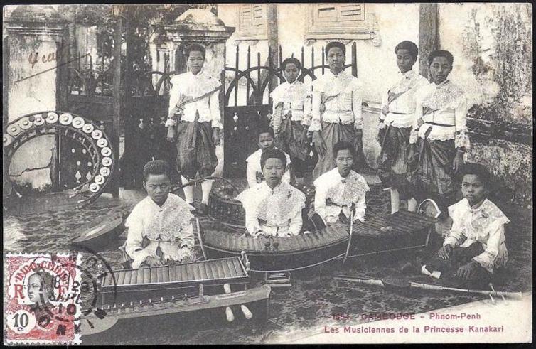 1910 Cambodia - Musicians of Princess Kanakari