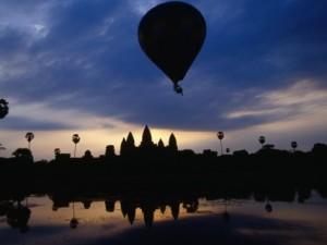 Balloon over Angkor Wat