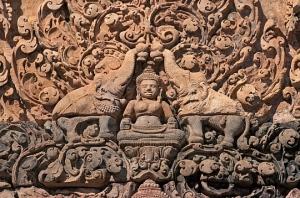 Elephant Bas Relief