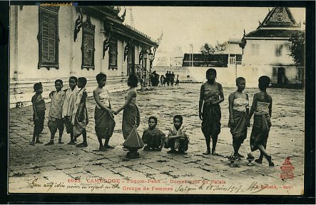 Phnom Penh - Group of women, servants of the Royal Palace.