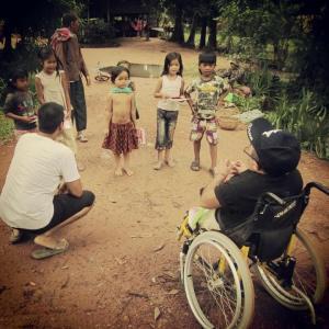 Filming in Cambodia