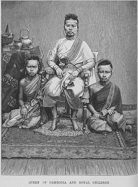 Queen & Children Cambodia 1871